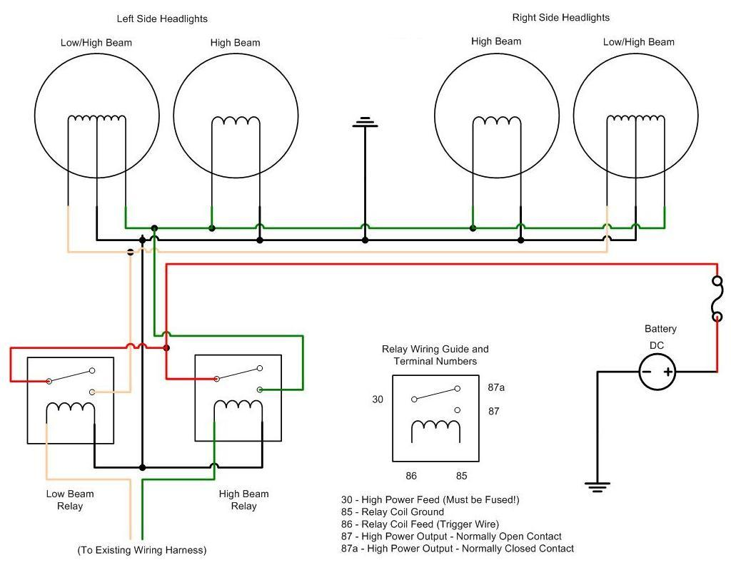 Car Light Wiring Harness Another Blog About Diagram Hid Relay Tips And Tricks For Building A 30 Headlight Club